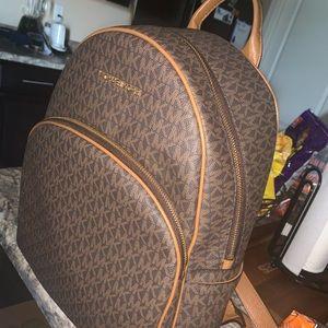 Michael Kors brown backpack